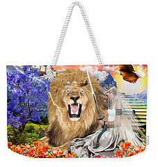 Weekender Tote Bag featuring the digital art Perfect Peace by Dolores Develde