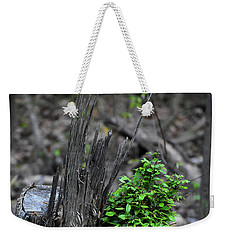 Weekender Tote Bag featuring the photograph Persistence by Skip Willits