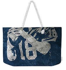 Peyton Manning Colts Weekender Tote Bag by Joe Hamilton