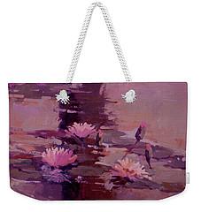 Pond Blossoms - Water Lilies Weekender Tote Bag