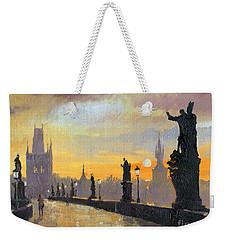 Prague Charles Bridge 01 Weekender Tote Bag