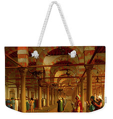 Weekender Tote Bag featuring the painting Prayer In The Mosque by Jean-Leon Gerome