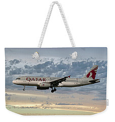 Qatar Airways Airbus A320-232 Weekender Tote Bag