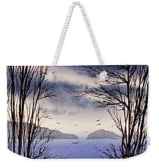 Weekender Tote Bag featuring the painting Quiet Shore by James Williamson