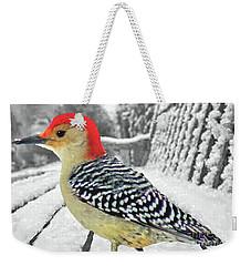 Red Bellied Woodpecker In Winter Weekender Tote Bag