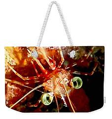Red Night Shrimp Weekender Tote Bag