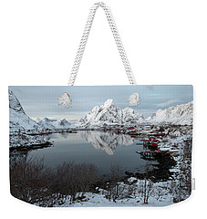 Weekender Tote Bag featuring the photograph Reine, Lofoten 4 by Dubi Roman