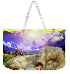 Weekender Tote Bag featuring the digital art Rest  by Dolores Develde