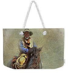 Weekender Tote Bag featuring the photograph Ride Em Cowboy by David and Carol Kelly