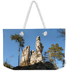 Weekender Tote Bag featuring the photograph Rock Formations In The Bohemian Paradise Geopark by Michal Boubin