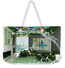 Rooftop Saltwater Fish Tank Art Weekender Tote Bag