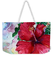 Rose Of Sharon Weekender Tote Bag by Mindy Newman