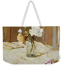 Roses In A Glass Vase Weekender Tote Bag