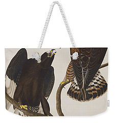 Rough-legged Falcon Weekender Tote Bag by John James Audubon