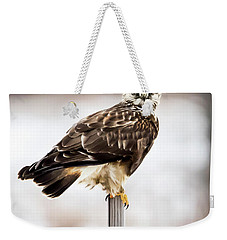 Rough-legged Hawk Weekender Tote Bag by Ricky L Jones