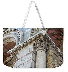Weekender Tote Bag featuring the photograph Saint Sernin Basilica Architectural Detail by Elena Elisseeva