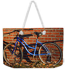 Weekender Tote Bag featuring the photograph Shadows On The Wall by Linda Brown