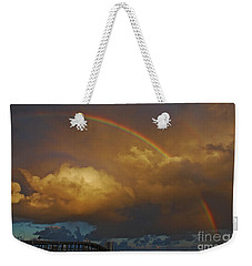Weekender Tote Bag featuring the photograph 2- Singer Island Stormbow by Rainbows