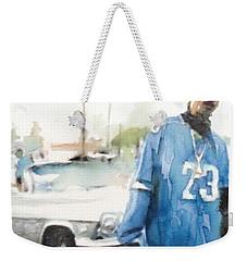 Snoop Detail Weekender Tote Bag by Jani Heinonen