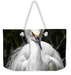 Snowy Egret Weekender Tote Bag by Fran Gallogly