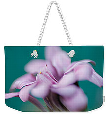 Weekender Tote Bag featuring the photograph Soft Pink by Michaela Preston