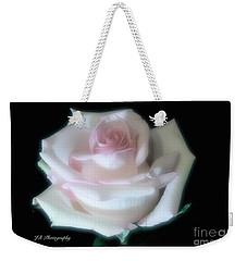 Soft Pink Rose Bud Weekender Tote Bag by Jeannie Rhode