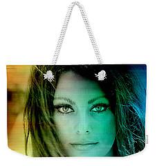 Sophia Loren Weekender Tote Bag by Marvin Blaine