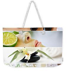 Spa Collage Weekender Tote Bag