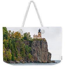 Split Rock Lighthouse Weekender Tote Bag by Steve Stuller