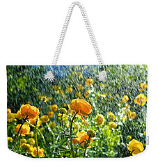 Spring Flowers In The Rain Weekender Tote Bag