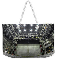 Weekender Tote Bag featuring the photograph Stage In The Abandoned Theatre by Michal Boubin