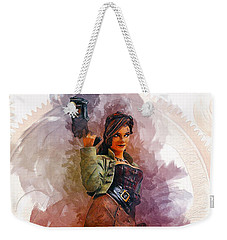 Steampunk Girl Weekender Tote Bag