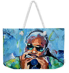 Stevie Wonder Weekender Tote Bag by Richard Day