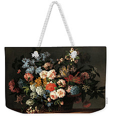 Still Life With Basket Of Flowers Weekender Tote Bag