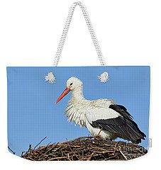 Stork On A Nest Weekender Tote Bag