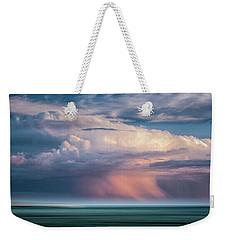 Storm On The Sound Weekender Tote Bag