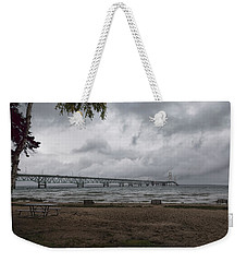 Weekender Tote Bag featuring the photograph Straits Of Mackinac by John M Bailey