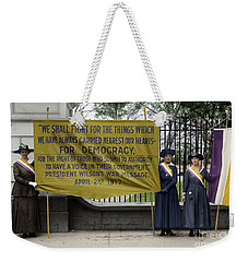Weekender Tote Bag featuring the photograph Suffragettes, 1917 by Granger