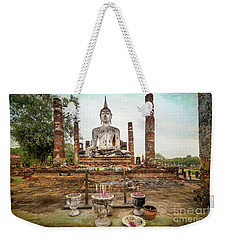 Weekender Tote Bag featuring the photograph Sukhothai Buddha by Adrian Evans