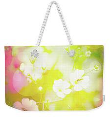 Summer Flowers, Baby's Breath, Digital Art Weekender Tote Bag