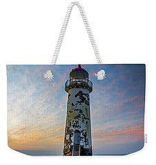 Sunset At The Lighthouse Weekender Tote Bag by Ian Mitchell
