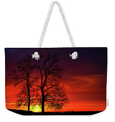 Weekender Tote Bag featuring the photograph Sunset by Bess Hamiti