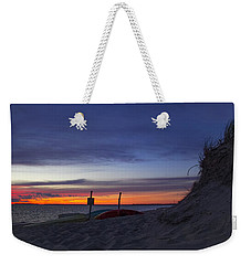 Weekender Tote Bag featuring the photograph Sunset On The Bay by Michael Friedman