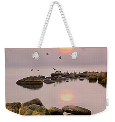Weekender Tote Bag featuring the photograph Sunset by Vladimir Kholostykh