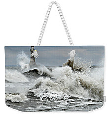 The Angry Sea Weekender Tote Bag