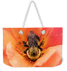Weekender Tote Bag featuring the photograph The Bee by Cathy Donohoue
