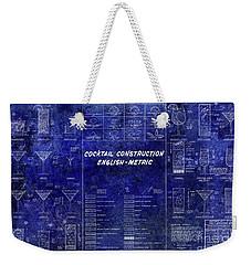 The Cocktail Construction Blueprint Weekender Tote Bag by Jon Neidert