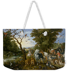 The Entry Of The Animals Into Noah's Ark Weekender Tote Bag by Jan Brueghel the Elder