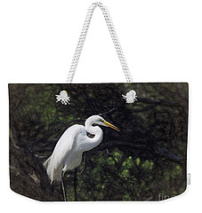The Great White Egret Weekender Tote Bag by Scott Cameron