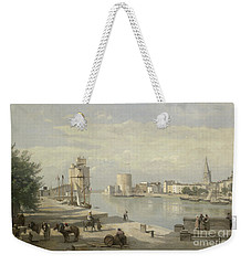 The Harbor Of La Rochelle Weekender Tote Bag by Jean Baptiste Camille Corot